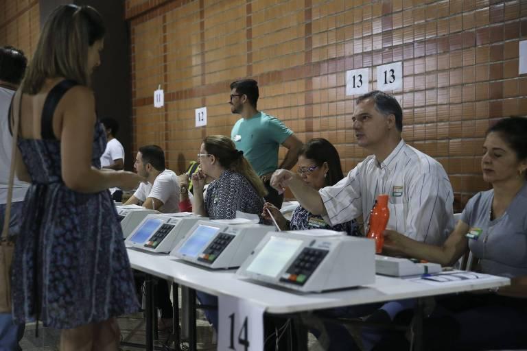 Seção eleitoral no DF, no primeiro turno da eleição de 2018