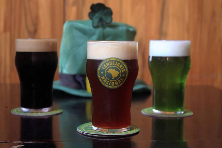 Chopes da Cervejaria Nacional para o St. Patrick's 2020