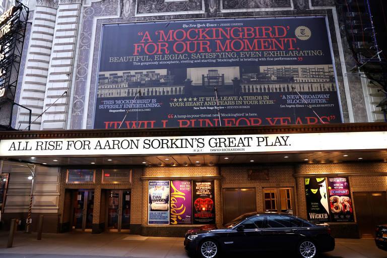 Teatro da Broadway, cujo complexo de entretenimento vai ser suspenso por causa do coronavírus