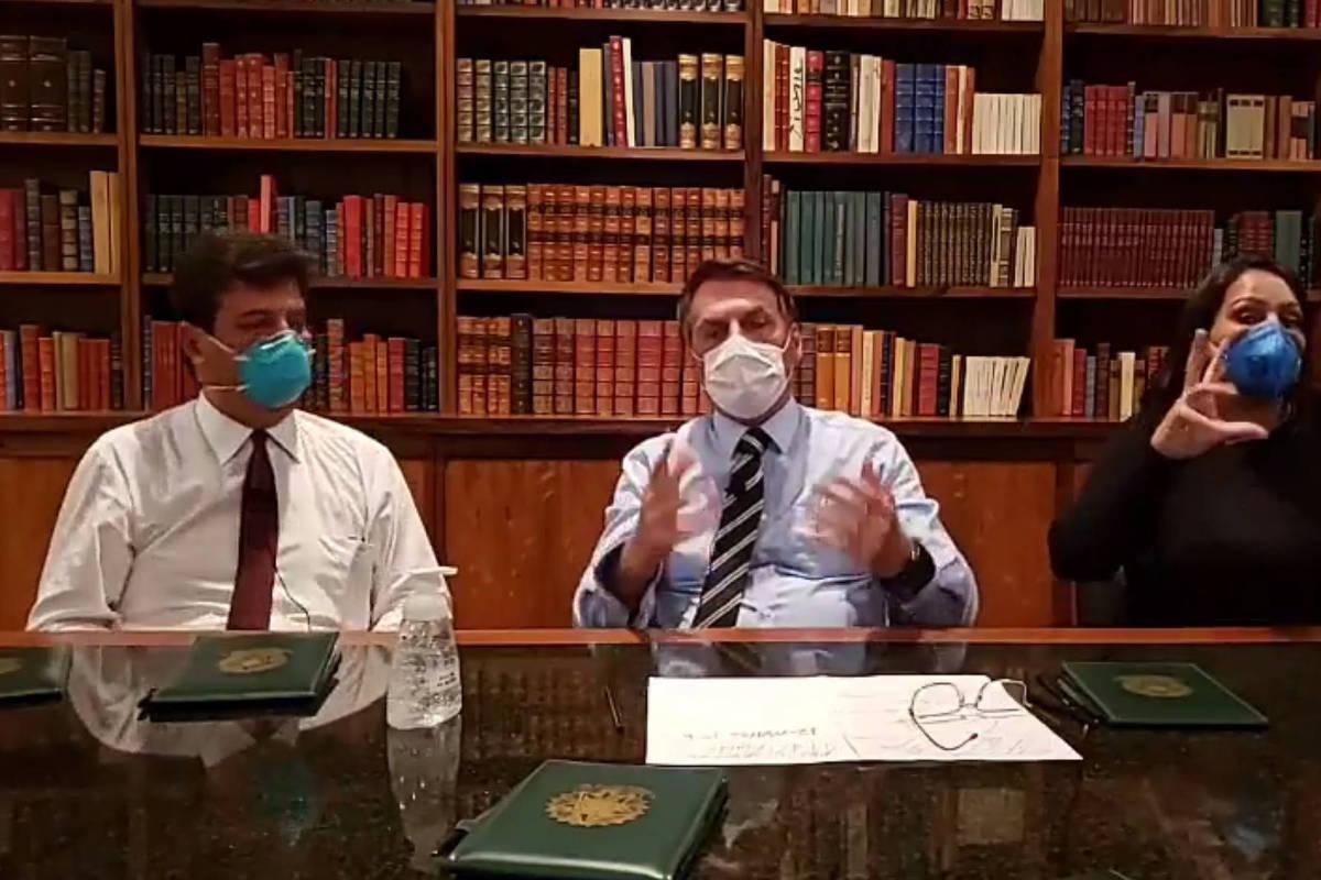 Rímel ao vivo do presidente Jair Bolsonaro