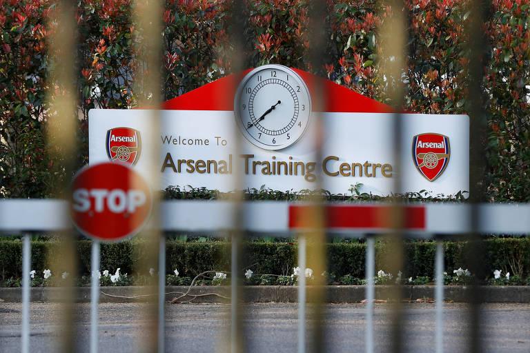 Centro de treinamento do Arsenal, cujo técnico, Mikel Arteta, foi infectado