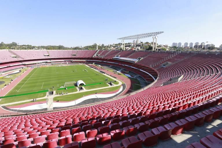 O estádio do Morumbi não terá torcida para o jogo entre São Paulo e Santos