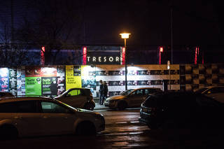 Tresor, a club in the Mitte district of Berlin, remains open on March 11, 2020. (Gordon Welters/The New York Times)