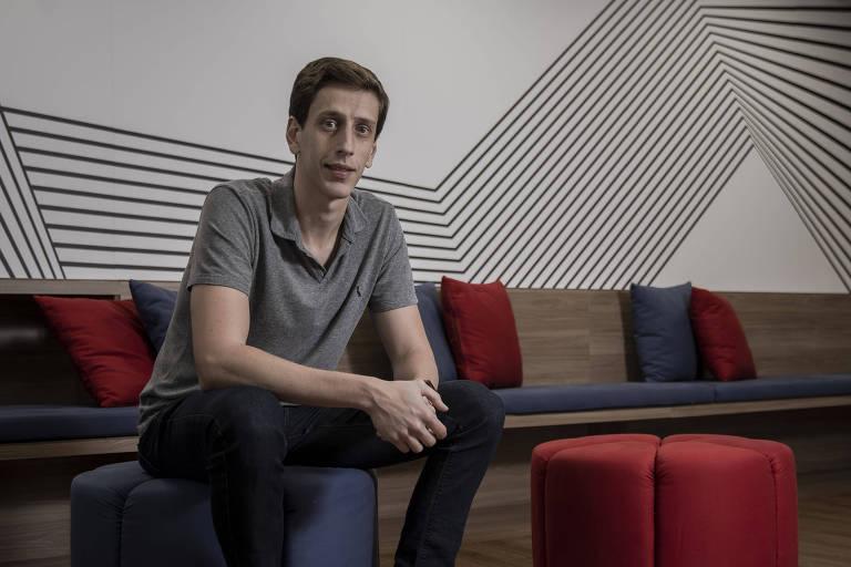O empresário Henrique Carbonell no escritório da F360º, em São Paulo