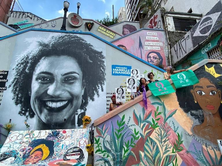 Homenagens a Marielle marcam o aniversário de dois anos do assassinato; veja fotos de hoje