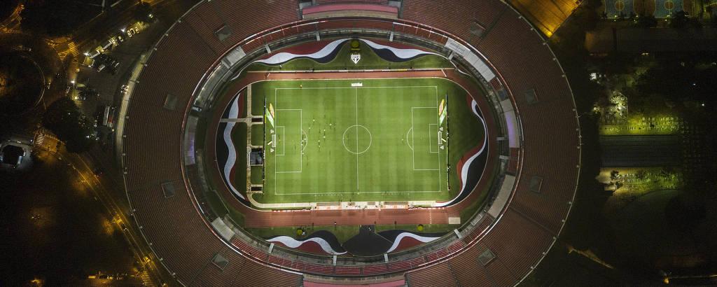 São Paulo e Santos fizeram clássico sem torcida neste sábado (14), no Morumbi, pelo Campeonato Paulista