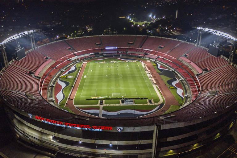 São Paulo e Santos fizeram jogo sem torcida no Morumbi, neste sábado (14)