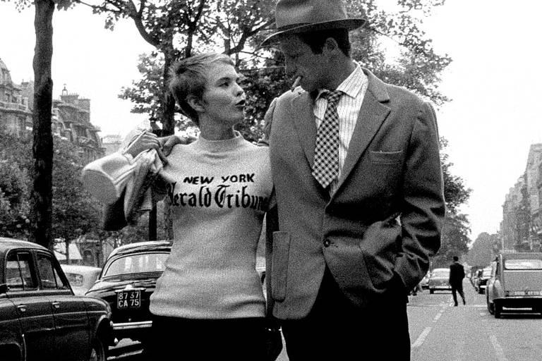 Cena do filme 'Acossado', do diretor Jean Luc Godard