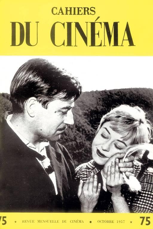 Capa da revista Cahiers du Cinéma de outubro de 1957, que traz cena do filme 'Noites de Cabíria', de Fellini