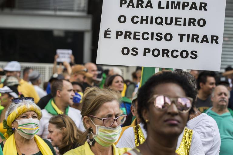 Ato pró-Bolsonaro na av. Paulista neste domingo (15)