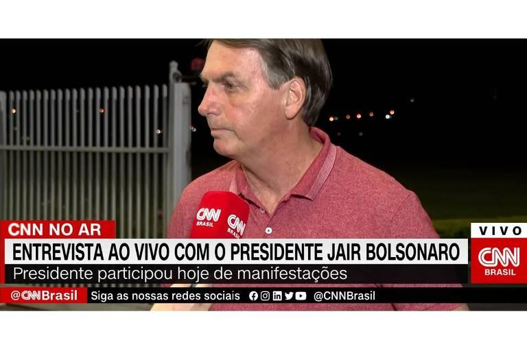 Bolsonaro na CNN Brasil