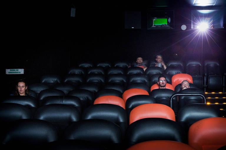 Sala de cinema na região central de São Paulo às vésperas do fechamento por causa da Covid-19