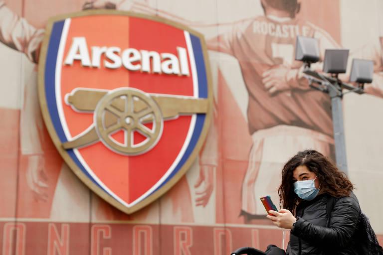 Arsenal foi um dos clubes ingleses afetados pelo coronavírus, com seu técnico, Mikel Arteta, testando positivo