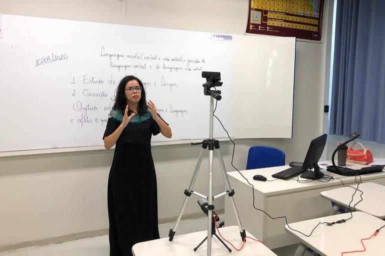 Teste para aula à distância pelo colégio Porto Seguro