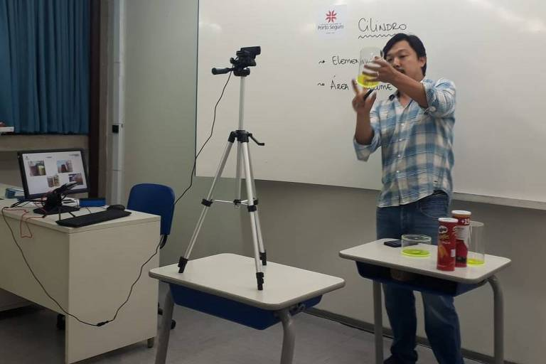 Teste para aula a distância pelo colégio Porto Seguro