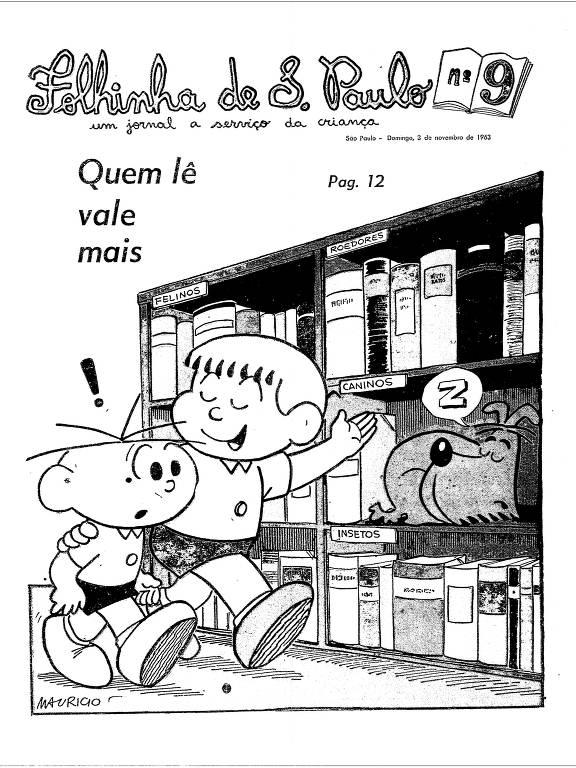 Capa da Folhinha de São Paulo, publicada em 3 de novembro de 1963