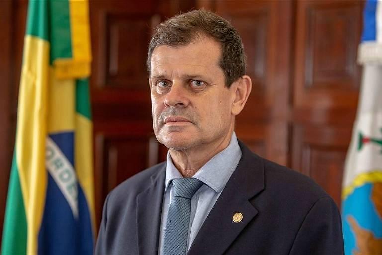 O deputado estadual Coronel Salema (PSL) na Assembleia Legislativa do Rio de Janeiro