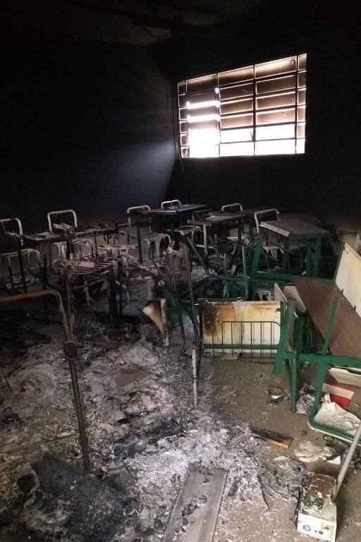 Destruição no CPP (Centro de Progressão Penitenciária) Porto Feliz