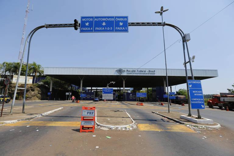 Ponte da Amizade, entre Paraguai e Brasil, fica vazia após coronavírus; veja fotos de hoje