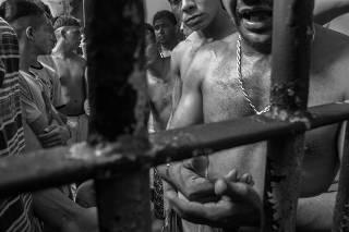 Detentos em presídio do Complexo de Pedrinhas em São Luís