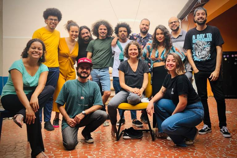Integrantes da Agência Mural, em São Paulo