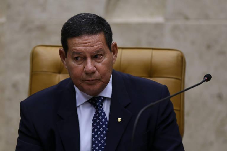 O vice-presidente Hamilton Mourão durante cerimônia no Supremo Tribunal Federal, em Brasília