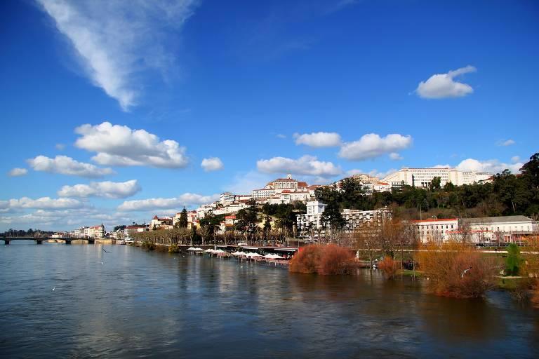 Cidade de Coimbra em Portugal