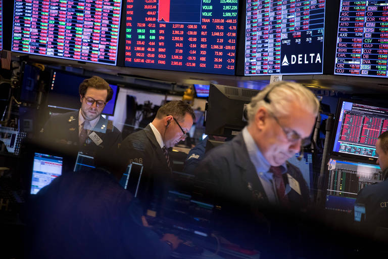 Operadores na Bolsa de Valores de Nova York (Nyse)