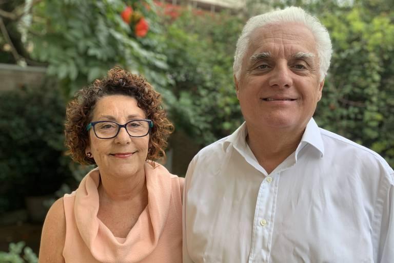 O casal de epidemiologistas da USP Paulo Lotufo e Isabela Bensenor