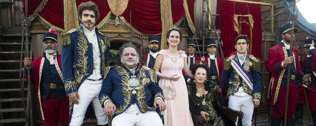 Família real na novela