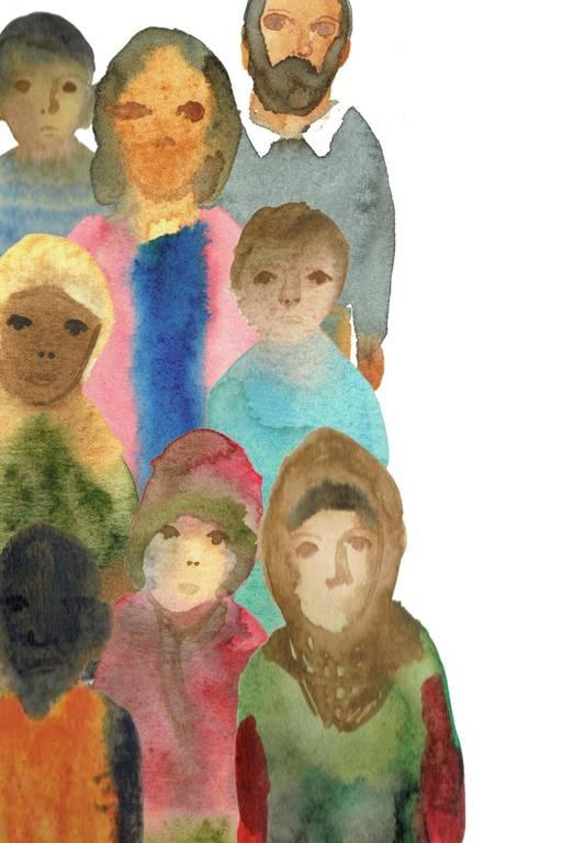 """Ilustração do ebook infantil """"Amal"""", da editora Caixote"""