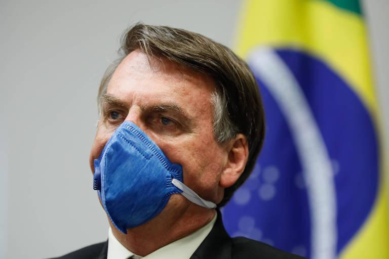 O presidente Jair Bolsonaro durante reunião nesta sexta-feira (20)