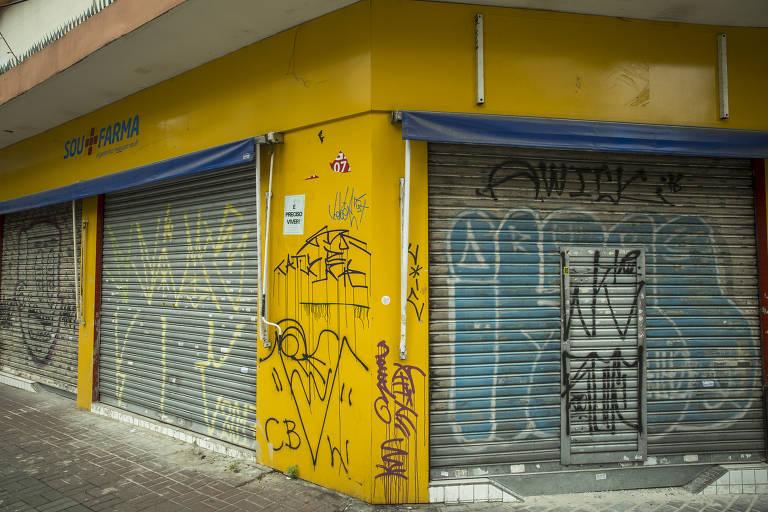 Comércio fechado em São Paulo por causa do coronavírus