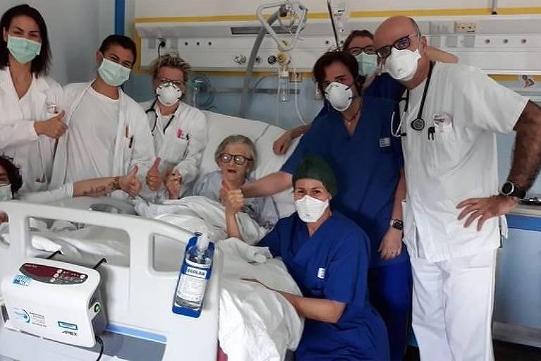 Idosa de 95 anos é curada do coronavírus