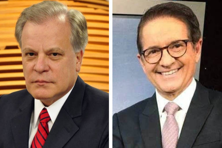 Chico Pinheiro e Carlos Tramontina foram afastados da Globo por terem mais de 60 anos
