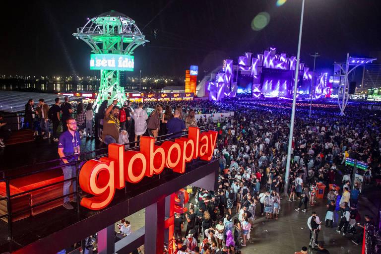 Estande da Globoplay no Rock in Rio