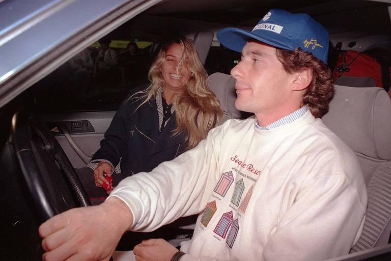 Ayrton Senna e Adriana Galisteu