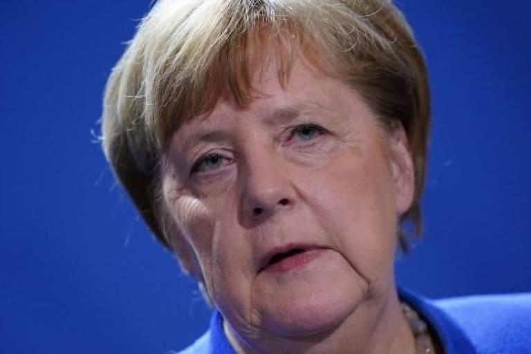Retrato de Angela Merkel