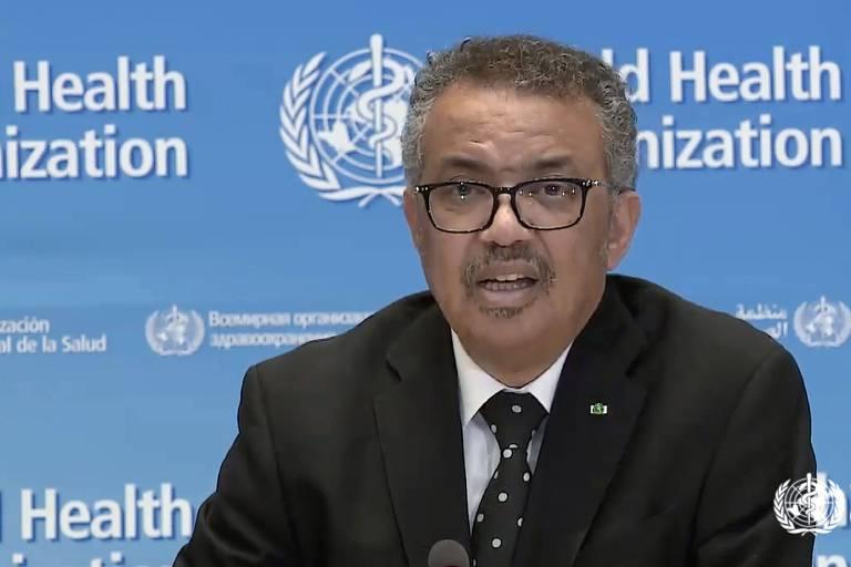 O diretor-geral da Organização Mundial da Saúde, Tedros Adhanom Ghebreyesus