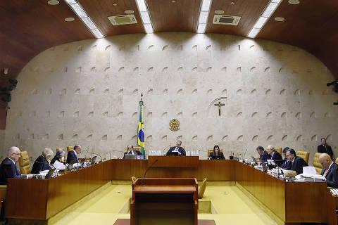 BRASILIA, DF, 06-02-2020  -   Ministros do STF durante a sessão plenária. O Supremo Tribunal Federal (STF) decidiu, nesta quinta-feira (6), que cidadãos aposentados que voltam ao mercado de trabalho não podem recalcular o valor do benefício por meio da