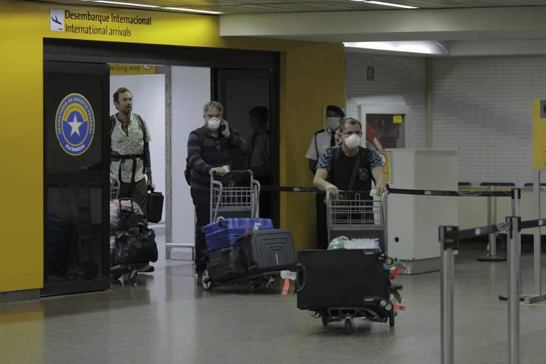 Aeroporto de Guarulhos em tempos de coronavírus