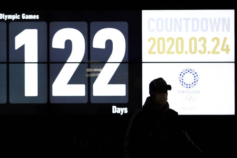 Contagem para os Jogos Olímpicos de Tóquio é interrompida a 122 dias do evento