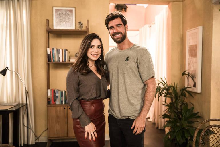 Bruno ( Marcos Pitombo ) e Micaela ( Sabrina Petraglia )