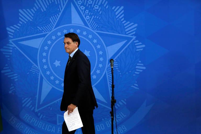 Bolsonaro após falar sobre reunião virtual com governadores do Nordeste, na segunda (23)