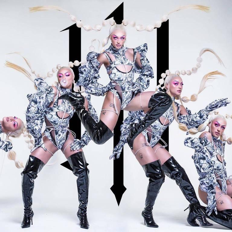 """Capa do álbum """"111"""" de Pabllo Vittar, que teve lançamento antecipado após vazamento"""