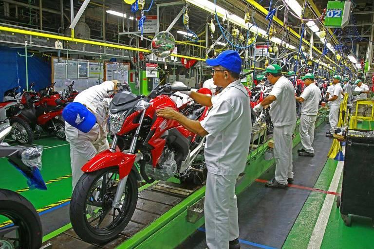 Fabrica da  Honda em Manaus, que deve paralisar as atividades nesta sexta (27)