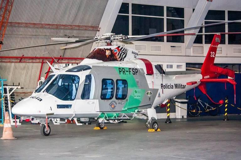 Helicóptero que seria retirado do policiamento em São Paulo
