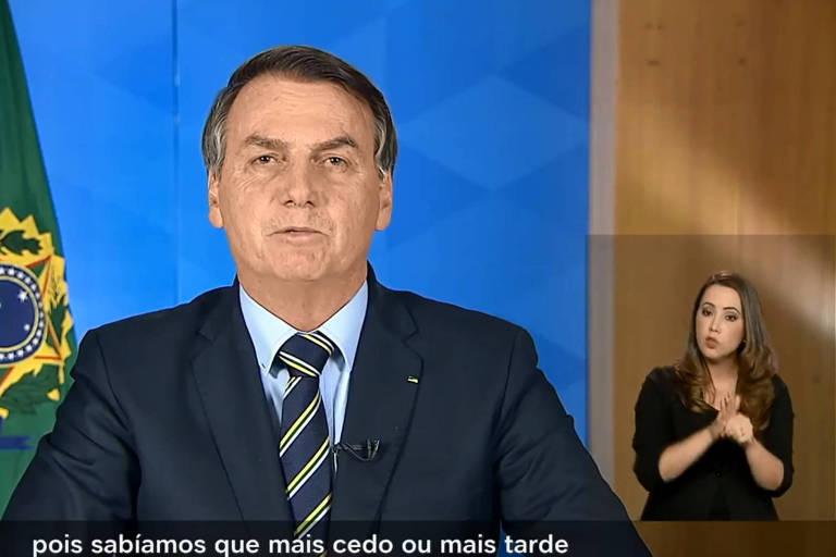 Bolsonaro faz pronunciamento sobre o coronavírus nesta terça (24)