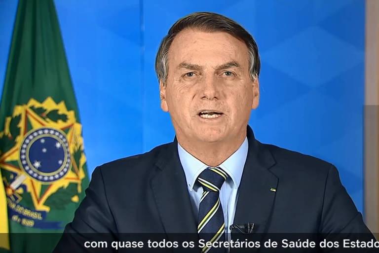 Pronunciamento do presidente Jair Bolsonaro, em cadeia nacional de rádio e televisão, sobre o enfrentamento à Covid19