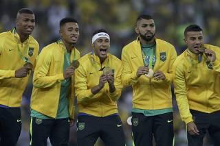 Football - Men's Tournament Victory Ceremony